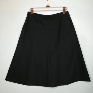 Elie Tahari black lined A-LINE skirt Nordstrom S 2